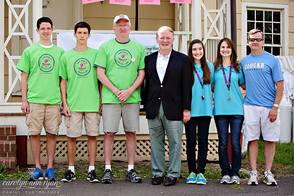 2014 Cranford Area Promise Walk Speakers: Patrick, Cameron and Justin Dignan, Congressman Lance, Marissa and Stephanie Steiner, Dr. Ed Wolf