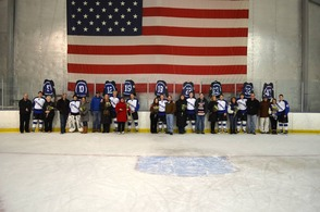SPFHS Raider Icers Celebrate Senior Night