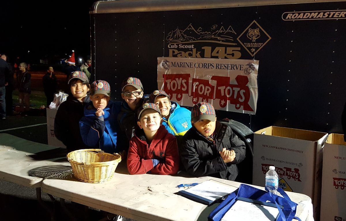 Toys For Tots Articles : Bright lights in the township clark tree lighting and