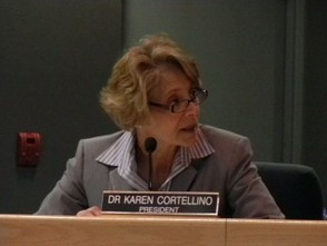 Board of Education President Dr. Karen Cortellino discusses the superintendent salary cap meeting.