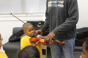 Paterson Music Project Student at Community Charter School of Paterson
