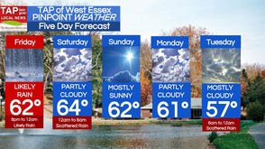 Cold Friday Morning, Likely Evening Rain; West Essex Area Weather for April 25, photo 1