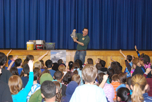 Earth Day Assembly at SPF Coles Elementary School