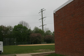PSE&G power lines behind Lazar Middle School