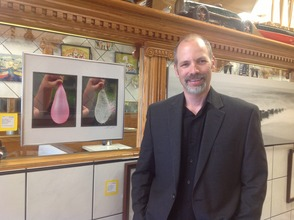 Mark Miller with one of his examples of art photography.