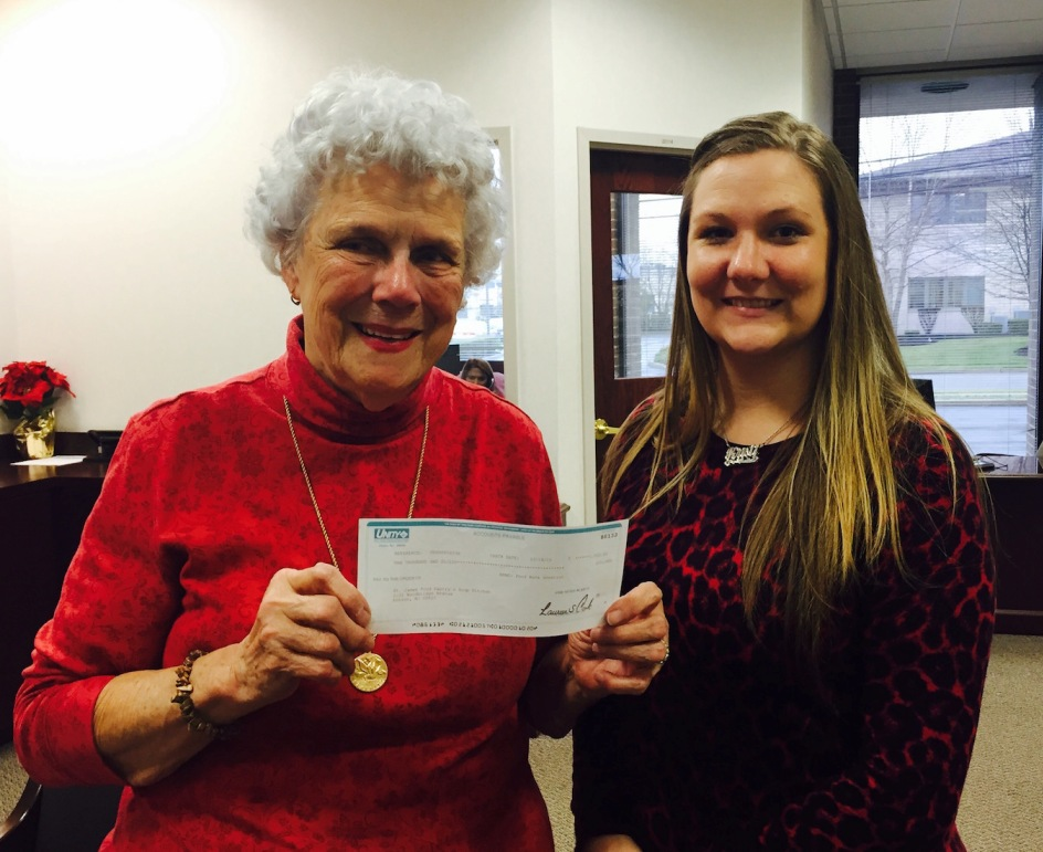Jackie Goedesky, President Of The Saint James Food Pantry And Soup Kitchen  Of Edison Receives A $1,000 Check From Kristi Davis, Unity Bank Edison  Branch ...