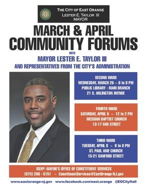 East Orange Mayor To Host Fourth Ward Community Forum, photo 1