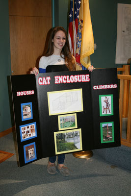 Olivia Bednash Presents Cat Enclosure at Township Meeting on April 8