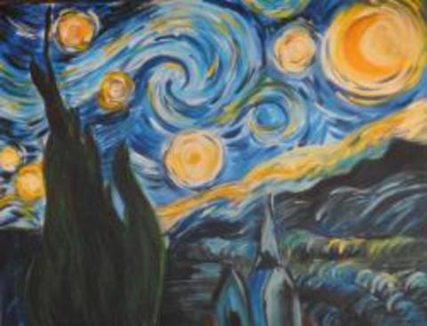 byob painting class starry night tapinto