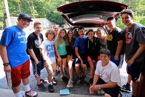 Livingston Residents Attending Jeff Lake Camp Load Up Donations to CHOW