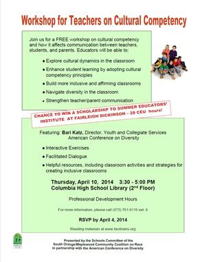 Cultural competency Workshop for Teachers