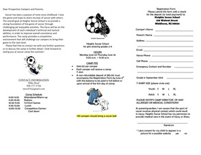 2014 Heights Soccer School To Be Held June 23 - 26 At Snyder Avenue Park, Berkeley Heights, photo 3