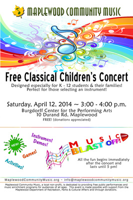 Maplewood Community Music Presents Classical Children's Concert & Music Blast Off!, photo 1