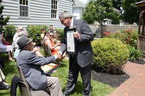 Sen. Bateman Presents the proclamation.