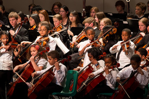 Paterson Music Project musicians perform with New Jersey Youth Symphony At Union County Performing Arts Center in Rahway, New Jersey