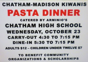 Kiwanis Dinner Set for Wednesday, Oct. 23 at Chatham High, photo 1