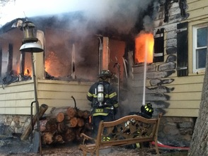 Firefighter Injured in Heighwood Fire