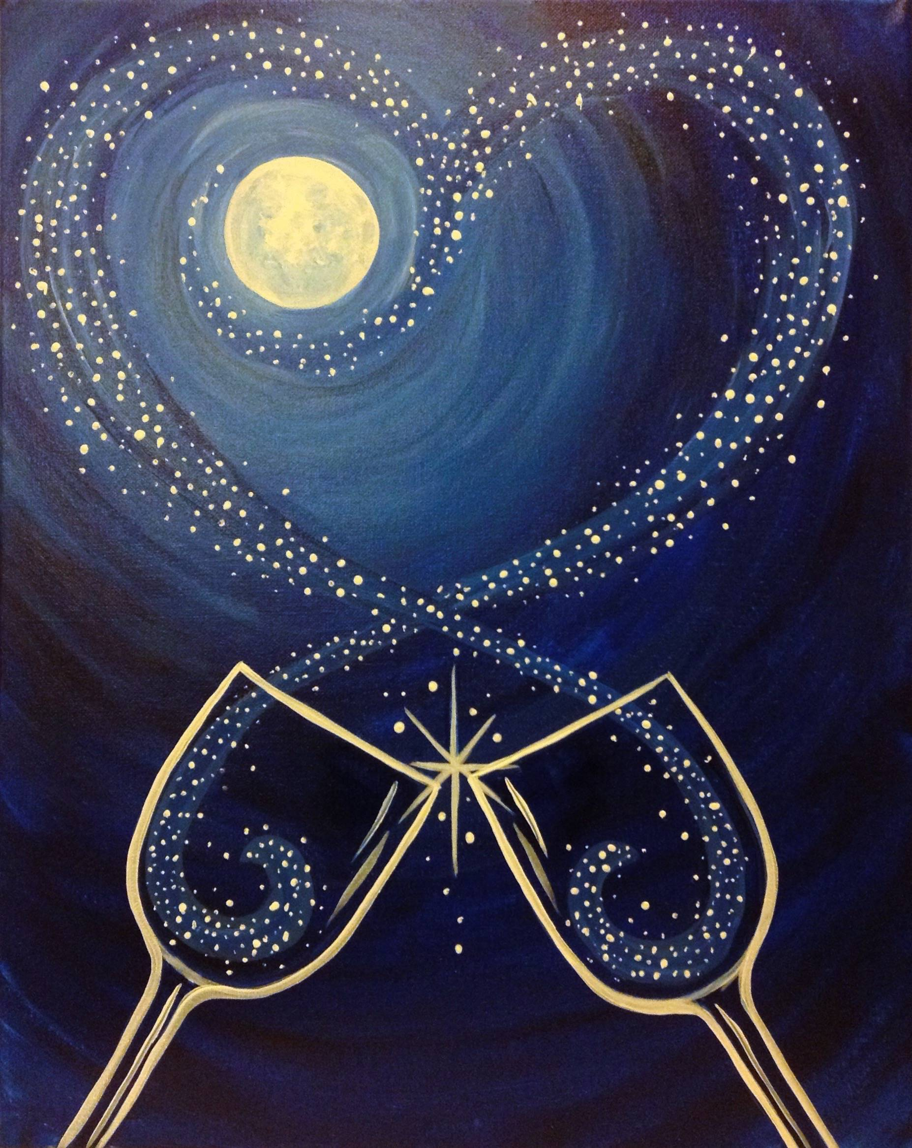 Sphs volleyball team digs up paint night fundraiser for Arts and crafts ideas for couples