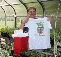 Pathways students presented Joe Gyurian, horticulturalist with Rutgers Cooperative Extension of Somerset County, with a special thank you gift.