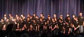 High School Boys Perform