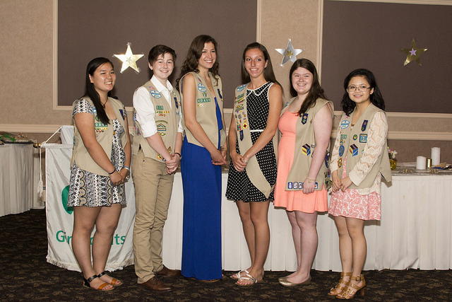 Six Cranford Girl Scouts Receive Highest Honor