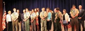 Eagle Scouts and their parents