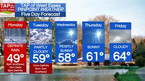 "1"" of Rain Monday into Tuesday; West Essex Area Weather for April 7 , photo 1"