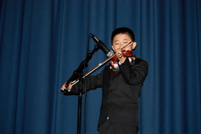 Jeffrey Xu, 3rd grader, played Witches Dance by Paganini.