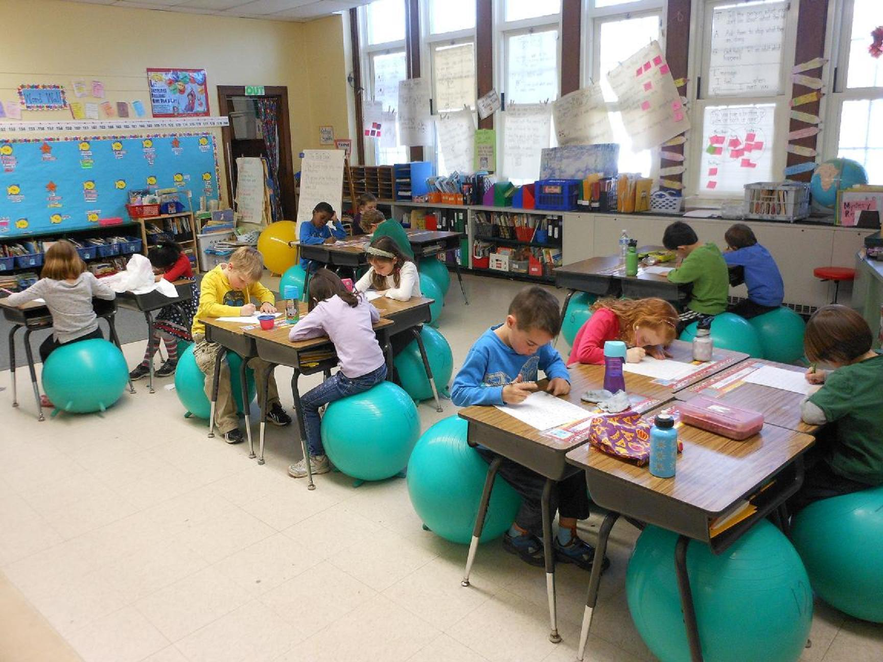 Stability Balls Bounce Into the Classroom News TAPinto