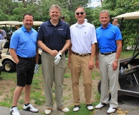 Newton Medical Center Foursome Getting Ready to Start