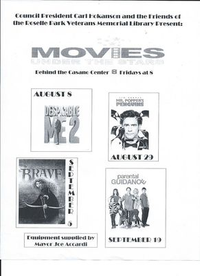 Movies Under the Stars Being Held in Roselle Park, photo 1
