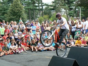 Chris Clark Bicycle Stunt Show
