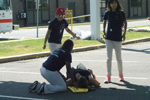Students Learn EMS Procedures in Mass Casualty Drill, photo 9