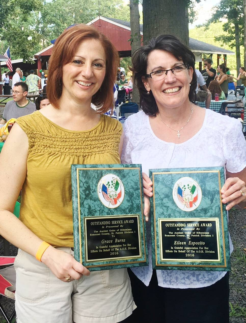 New jersey somerset county flagtown - Grace Burns Left And Eileen Esposito Received Awards For Their Charitable Work With The Hibernians At Sunday S Annual Picnic Credits Rod Hirsch