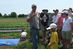 Farmer John Krueger shares his knowledge of organic farming