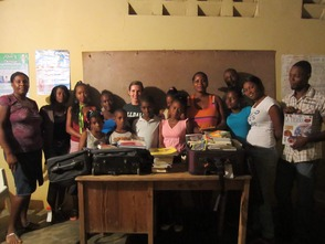 Susan Stine and Members of El Coyote Community Library Project Committee in Dominican Republic