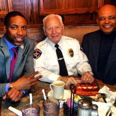 Mayor Jamel Holley With Sheriff Froehlich