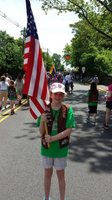 Bridget Davis flies the flag