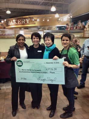 Morris Habitat Benefits from Whole Food Market's Community Outreach