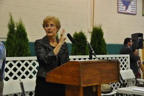 Lazar Principal Sharon Carr at 2014 Promotion Ceremony