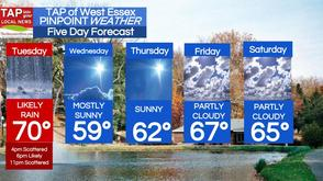Likely Rain Tuesday After 4 p.m.; West Essex Area Weather for April 22, photo 1