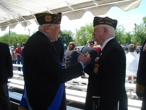 Grand Marshall Gerry Feldman (WWII) with Fellow Veteran