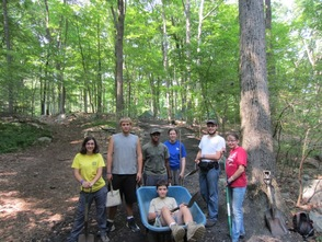 Group photo at the conservation project