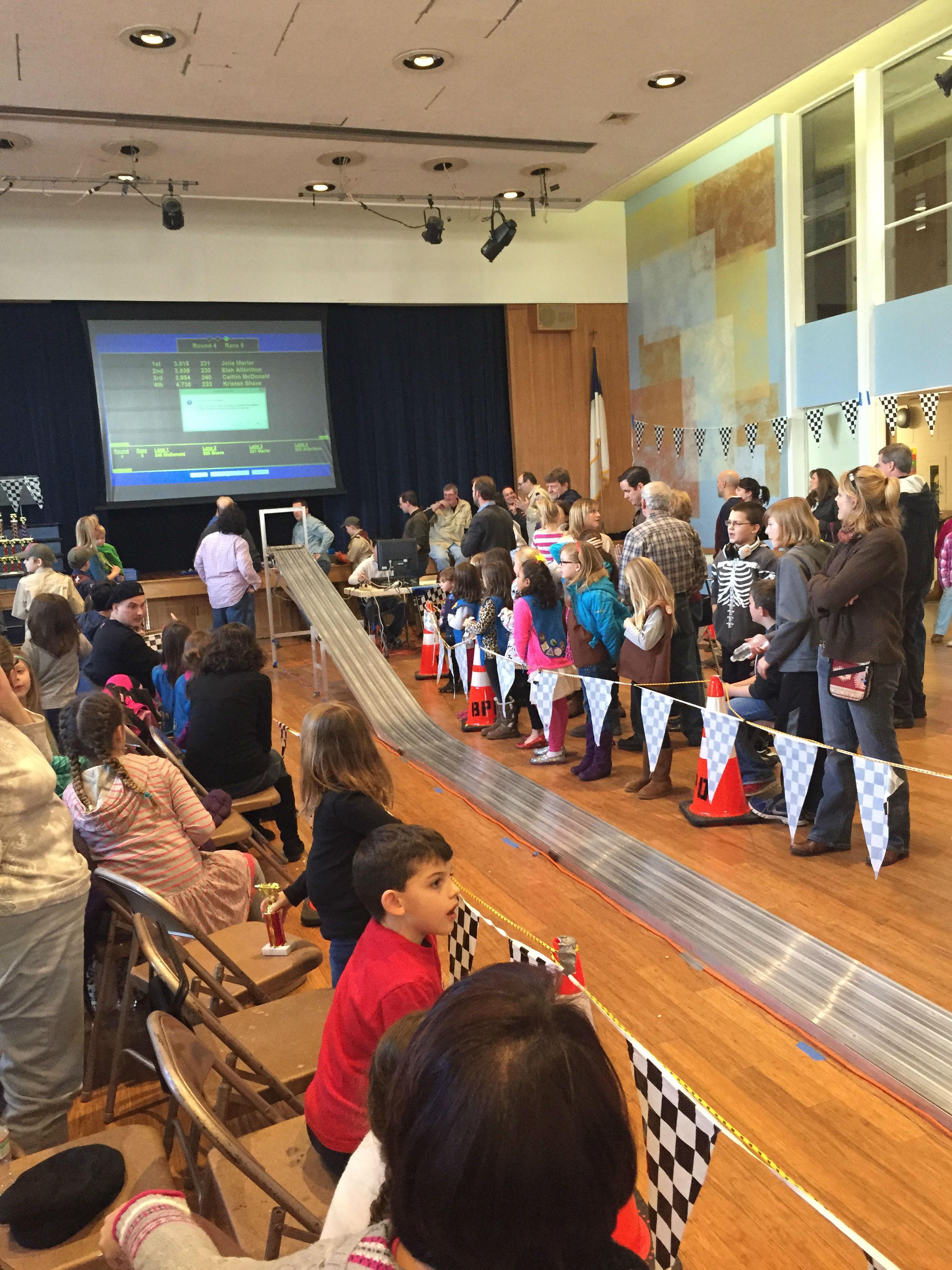 Cranford Girl Scouts Participate in 2nd Annual Powder Puff Derby