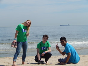 New Jersey AFS students assist in beach cleanup during AFS annual Day of Service