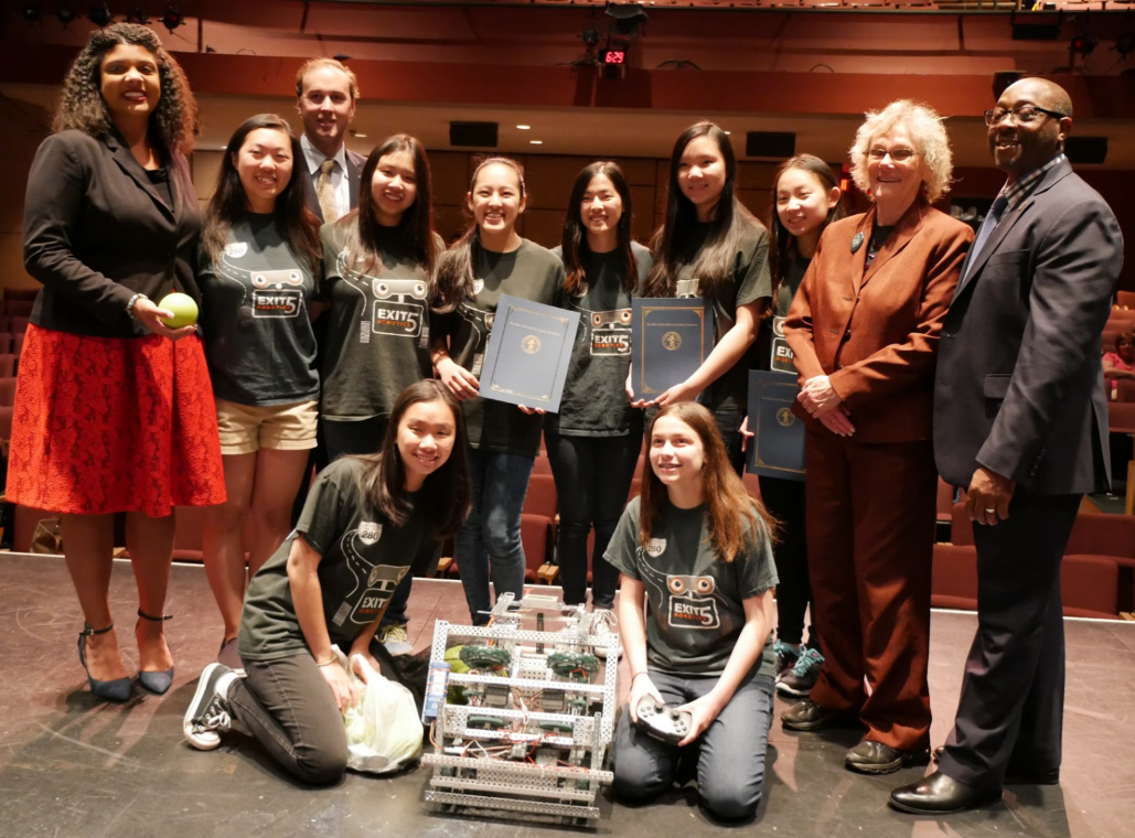 All-Girls Livingston Robotics Team Receives Commendation from Essex County Board of Chosen Freeholders