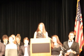Honor Society President Emily Mead