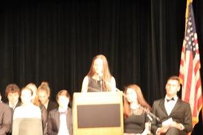Honor Society President Emily Mead