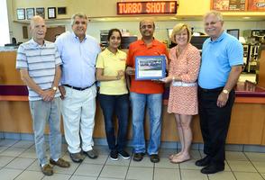 Dunkin Donuts receives Memorial Day award