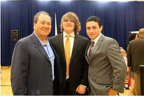Sen. Kevin O'Toole, featured with his son and intern